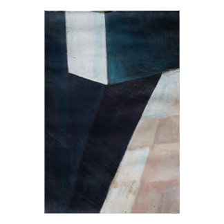 """""""Block"""" Abstract Acrylic Poster"""