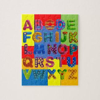 Block Alphabet Jigsaw Puzzle