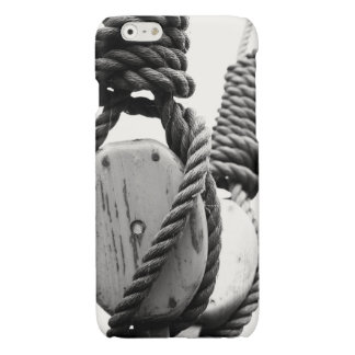 Block and tackle of old sailing ship glossy iPhone 6 case