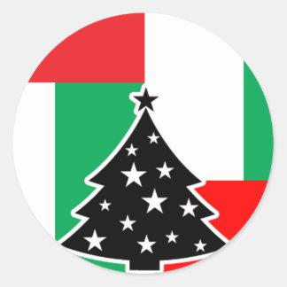 Block Christmas Sticker