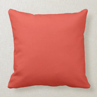 Block Color Cherry Tomato Red  - Throw Pillow