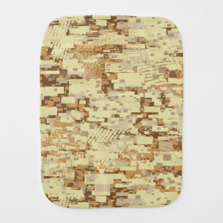 Block desert camouflage burp cloth