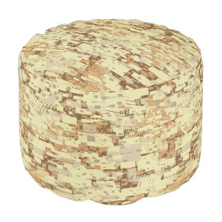 Block desert camouflage pouf
