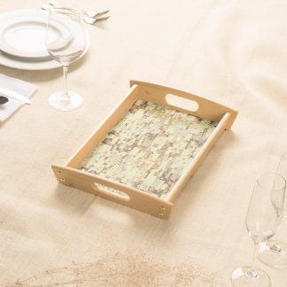 Block desert camouflage serving tray