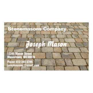Block for pavements - stonemason pack of standard business cards
