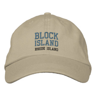 BLOCK ISLAND 2 cap Embroidered Hats