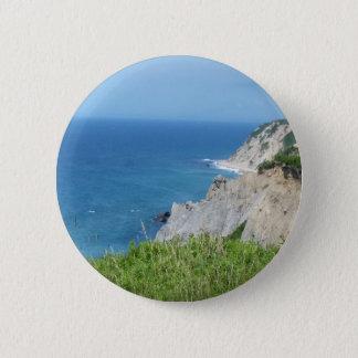 Block Island Bluffs - Block Island, Rhode Island 6 Cm Round Badge