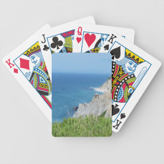 Block Island Bluffs - Block Island, Rhode Island Bicycle Playing Cards