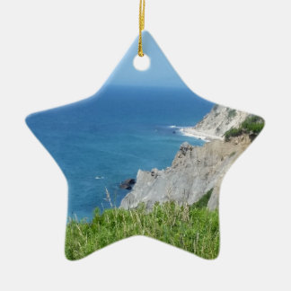 Block Island Bluffs - Block Island, Rhode Island Ceramic Ornament