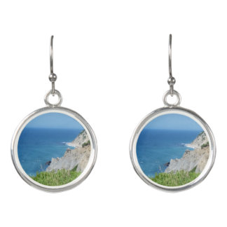 Block Island Bluffs - Block Island, Rhode Island Earrings