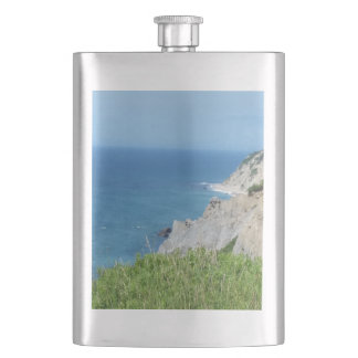 Block Island Bluffs - Block Island, Rhode Island Hip Flask