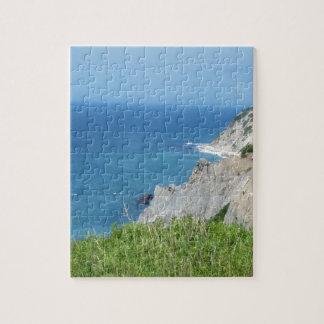 Block Island Bluffs - Block Island, Rhode Island Jigsaw Puzzle