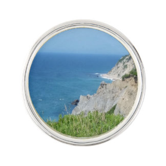 Block Island Bluffs - Block Island, Rhode Island Lapel Pin