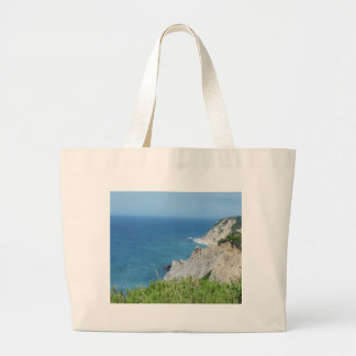 Block Island Bluffs - Block Island, Rhode Island Large Tote Bag