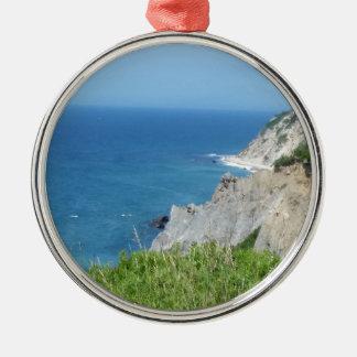 Block Island Bluffs - Block Island, Rhode Island Metal Ornament
