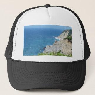 Block Island Bluffs - Block Island, Rhode Island Trucker Hat