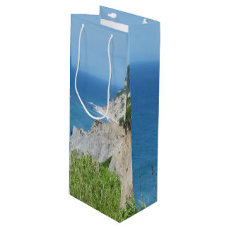 Block Island Bluffs - Block Island, Rhode Island Wine Gift Bag