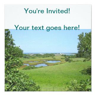 Block Island Champlin Road Meadow 13 Cm X 13 Cm Square Invitation Card