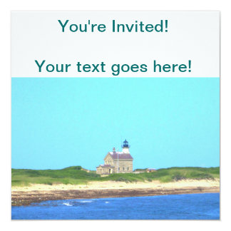 Block Island North Light 13 Cm X 13 Cm Square Invitation Card