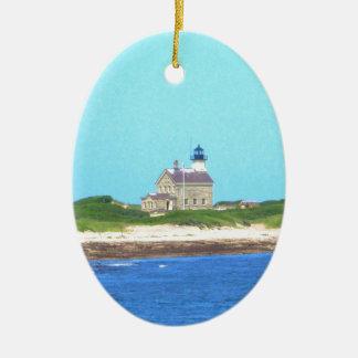 Block Island North Light Ceramic Ornament