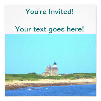 Block Island North Light Personalized Invitations