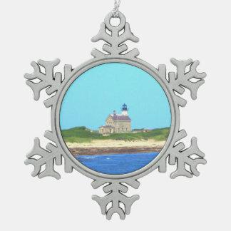 Block Island North Light Pewter Snowflake Decoration