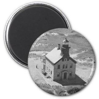 Block Island North Lighthouse 6 Cm Round Magnet