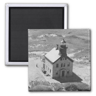 Block Island North Lighthouse Square Magnet