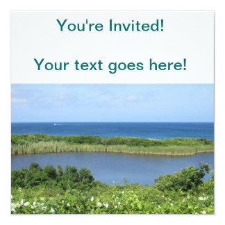 Block Island Pond 1 13 Cm X 13 Cm Square Invitation Card