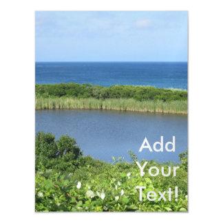 Block Island Pond 1 Magnetic Invitations