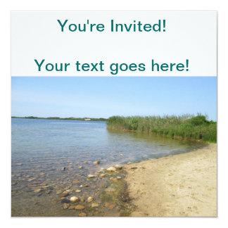 Block Island Pond 2 13 Cm X 13 Cm Square Invitation Card