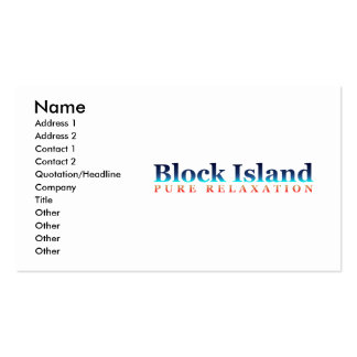 Block Island: Pure Relaxation Pack Of Standard Business Cards