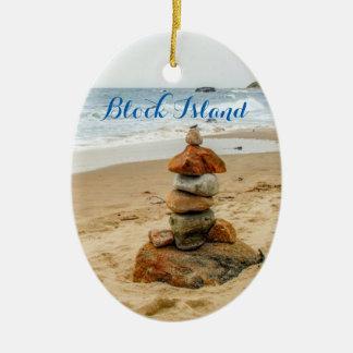 Block Island Stone Cairn Ornament