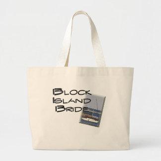Block Island Weddings, Bride Jumbo Tote Bag