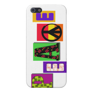Block Letters Peace and Gifts iPhone 5/5S Covers