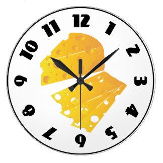 Block Of Cheese Clock