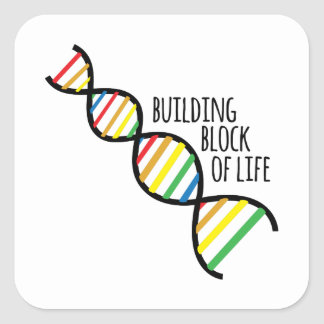 Block of Life Square Sticker
