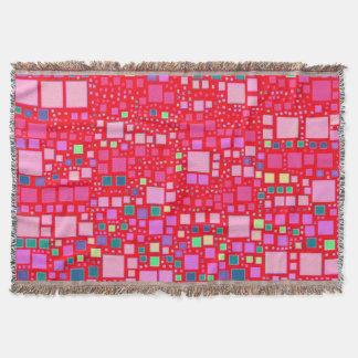 block on block,hot pink (C) Throw Blanket