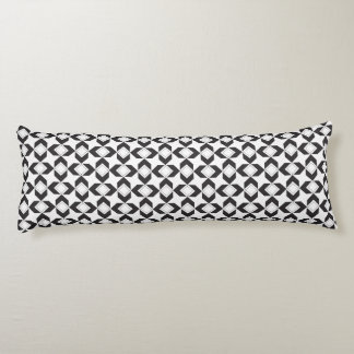 Block Over Block Black White Body Pillow by CMYKEY