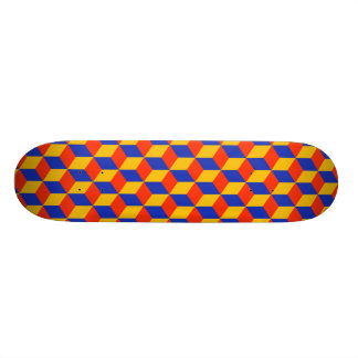 Block Pattern 01 20 Cm Skateboard Deck