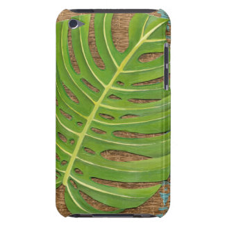 Block Print Palm on Wicker Background iPod Touch Cases