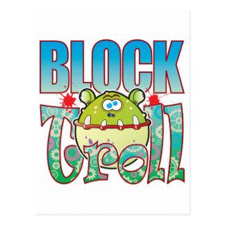 Block Troll Postcard