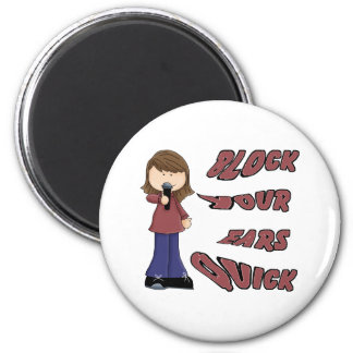 Block your ears quick 6 cm round magnet