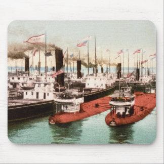 Blockade of Boats, Ste. Saint Marie, Michigan Mouse Pad