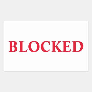 Blocked Sticker