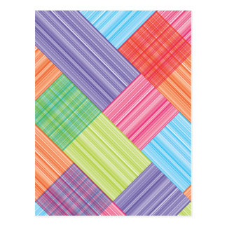 Blocked stripes abstract postcard