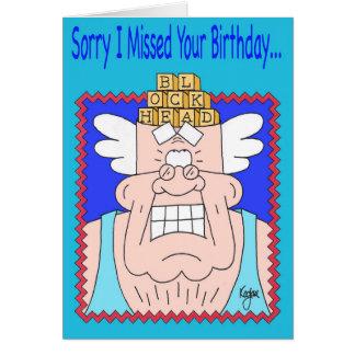 BLOCKHEAD Belated Birthday Card