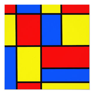 Blocks 13 Cm X 13 Cm Square Invitation Card