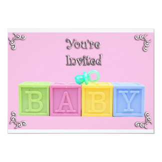 blocks 13 cm x 18 cm invitation card