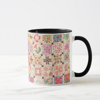Blocks Black Handle Mug
